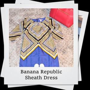 EUC   Banana Republic Geo/Diamond Sheath Dress